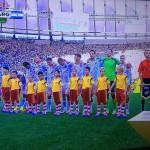 DFB-Team bei der Nationalhymne