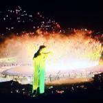 Feuerwerk über dem Stadion