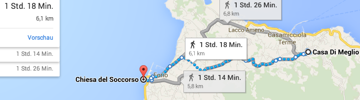Run Ischia: Google map Route 3