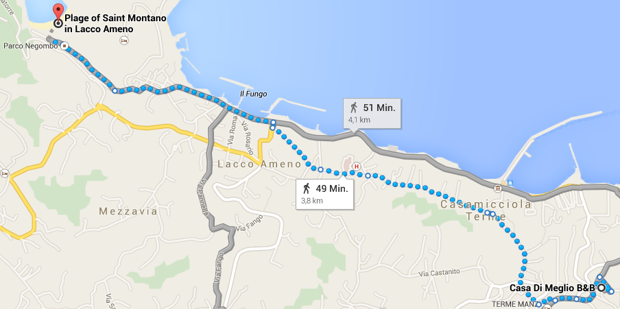 Run Ischia: Google map Route 2