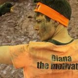 Diana mit Laufschirt