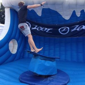 Auch Stephan macht einen Abgang vom Surfing Rodeo