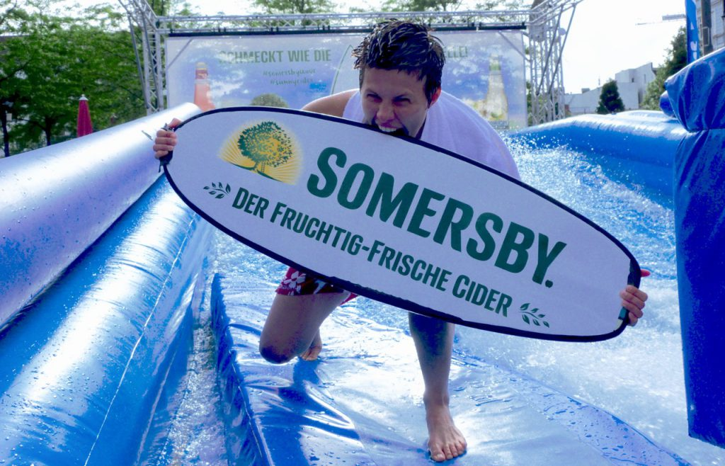 Somersby Wave Board in das ich fast reinbeiße
